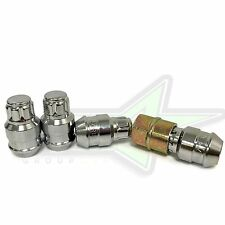 GORILLA LOCKING LUG NUT WHEEL LOCKS 12x1.5 CHROME CLOSED BULGE ACORN FITS TOYOTA