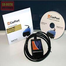 OBD2 USB Diagnose Interface für BMW Ford Opel Renault + Carport Basis Software