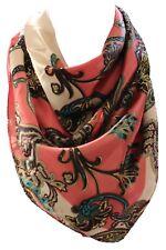 Vibrante Estampado Cachemira Satén Seda BANDANA cuello cuadrado bufanda Bufandas