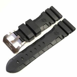 Kautschuk Armband für Panerai* 24mm und 26mm mit Schließe