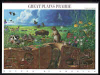 MNH NATURE OF AMERICA SERIES 3rd SHEET - Great Plains Prairie