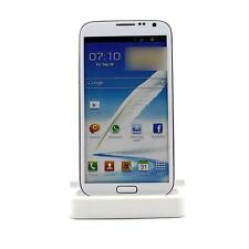 White Micro USB Dock Sync Charger Cradle Station for Samsung Galaxy S4 i9500