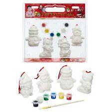 Malset Weihnachtsfiguren Keramik Bemalen Weihnachtsmann Pinsel 11.tlg Set DIY