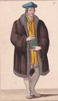 Portrait Guillaume Budé Budaeus Humaniste Science Théologie Jurisprudence