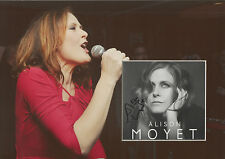 ALISON MOYET Signed 12x8 Photo Display ALL CRIED OUT - YAZOO COA