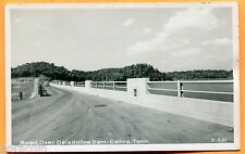 Celina, TN, Old Postcard View of Road Over Dale Hollow Dam, Real Photo 1950