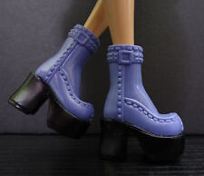 Barbie Doll Boots My Scene  Blue Platform Chunky High Heels Buckle Shoes Fashion