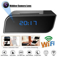 HD 1080P Wireless Wifi IP Spy Hidden Camera IR Cam Motion Security Alarm Cloc E&