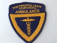 Metropolitan Toronto Ambulance,Canada patch
