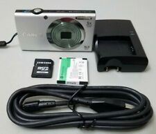 Canon PowerShot A2300 16.0MP Digital Camera - Silver Bundle w/64GB SD Card