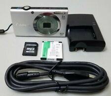 Canon PowerShot A2300 5X Zoom 16.0MP Digital Camera - Silver Bundle w/64GB Card