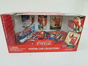 JOHNNY LIGHTNING DIECAST COCA COLA POST CAR COLLECTION 1/64 BUS CARS NIB LotD