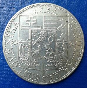 20 Korun Czechoslovakia 1933.   Silver 12 g.