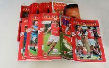 More details for arsenal home programmes complete set 1995/96 (x27) (pl/fac/lc+3xfriendlies) mint