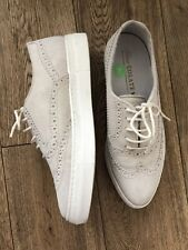 Shoecolate Willow Sneaker Off White Suede Leather Platform Shoes Loafers 7