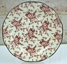 Wood & Sons England Colonial Rose Pink Dinner Plate - EXCELLENT