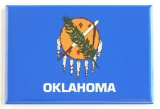 Oklahoma State Flag FRIDGE MAGNET (2 x 3 inches)