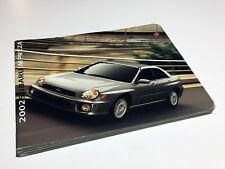 2002 Subaru Impreza RS TS WRX Brochure