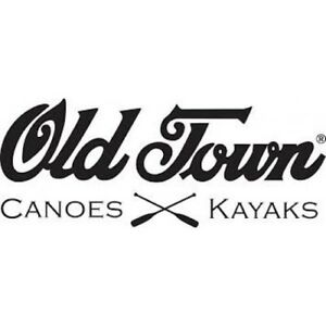 """2 Vinyl Stickers Old Town Canoes 6"""" length MANY COLOURS INCLUDING METALLICS"""