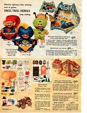 1966 Xmas catalog pg Batman Superman Troll Batcave Batmobile Liddle Kiddle