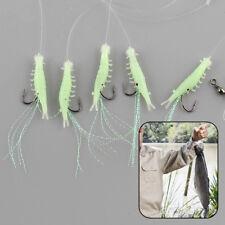 2Pcs Sabiki 5 Shrimp Rigs Glow in the dark Fishing Bait Baits Lure Size16 Hook