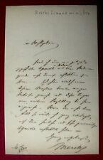 1849 Hamburg ERNST MERCK - Bankier und Politiker e. Brief - Reichsfinanzminister