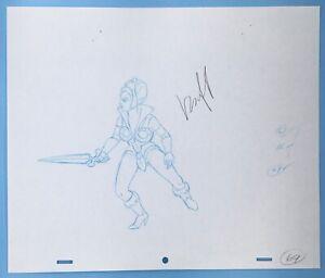HE-MAN MASTERS of the UNIVERSE TEELA Sword MOTU 1983 Animation Drawing Sketch 16