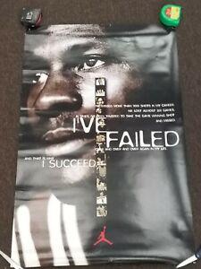 "Michael Jordan ""I've failed / I succeed"" original Nike poster 1998  23"" x 35"""