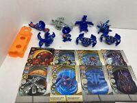 Spinmasters Bakugan Battle Brawlers - Blue Aquos Haos Lot Of 8 - Cards, BakuClip