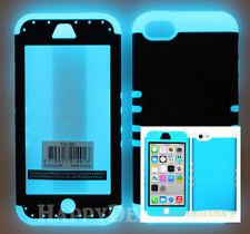 For Apple iPhone 5c - KoolKase Hybrid Shockproof Silicone Cover Case - BLUE (FL)