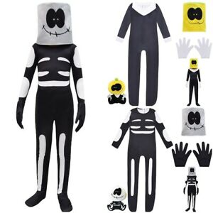 Boys Girls Friday Night Funkin Costume Jumpsuit+Head Mask Gloves Outfit Cosplay