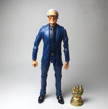 """Marvel Legends Custom Excelsior Stan Lee Head Sculp Blue Suited 6"""" Action Figure"""