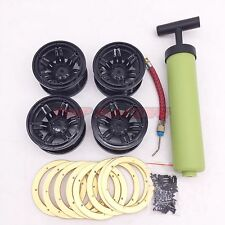 """12.2"""" Inflatable Metal BeadLock Wheels (4) W/ inflator For Axial Wraith Rims"""