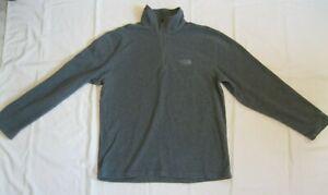 """The North Face"" men's GRAY 1/4 zip FLEECE top PULLOVER, size M"