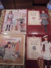 4 American Girls Samantha books paper dolls cook & craft art studio new & exclnt
