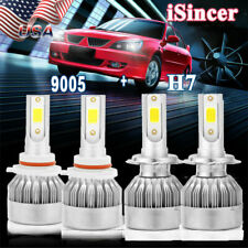 4X 9005 H7 LED Headlight Bulbs Kit For Mazda 3 2004-2006 Protege 5 2002-2003 US