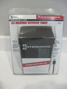 New Intermatic programmable 24-hour all-weather outdoor timer #EB11RC