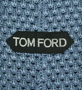 TOM FORD SKINNY Tie MADE IN ITALY 100% Silk Blue Color L57 W2.7