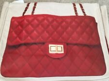 BN Thursday Friday RED Together Chanel quilted  Print CANVAS SHOPPER CHRISTMAS