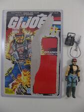 GI Joe 1985 ARAH Dreadnok Torch Complete Full Uncut Filecard Cardback