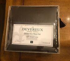 DEVEREUX Bedding Collection Queen Size 4Pc Sheet Set (1500 Ct) Deep Pocket BROWN