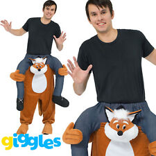 Fox Piggy Back Ride On Me Mascot Mens Fancy Dress Animal Costume Carry Stag Do