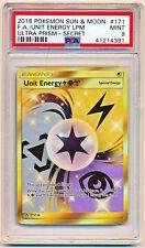 Pokemon Sun Moon Ultra Prism Unit Energy LMP Full Art Secret Rare #171 PSA 9 QTY
