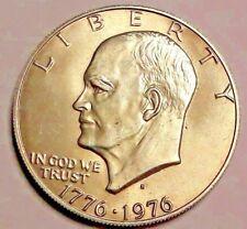 "One 1 Dollar ""S"" $ 1776 1976 Liberty Coin USA SUP-UNC Eisenhower Bicentennial"