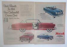 Original Print Ad 1953 NASH Airflyt La Mans Pinin Farina 2 Page Statesman