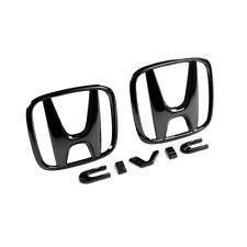 GENUINE HONDA JDM BLACK CHROME BADGE SET FOR HONDA CIVIC SPORT 1.5T 16+