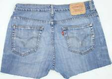Levi's 752 Blue Hot Pants Stretch Vintage Denim Shorts W33 UK12/14 (47601)