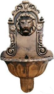 Lion Head Ornament Bird Bath Garden Water Fountain