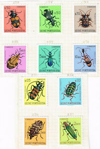 Portugise Guinea Fauna Insects Beetles set 1953 MLH
