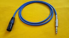 """Mogami 2549 XLR-M (male) to 1/4"""" TRS Stereo Balanced Audio Cable - Blue - 12 ft"""